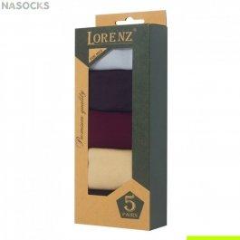 Подарочный набор  мужских носков, мерсеризованный хлопок  5 пар,  Р4