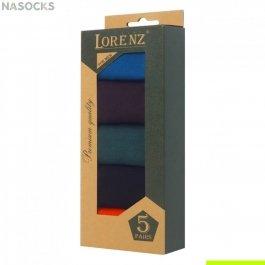 Подарочный набор  мужских носков, мерсеризованный хлопок  5 пар, Lorenz  Р5