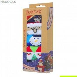 Подарочный новогодний набор мужских носков, 5 пар, Lorenz  Р8