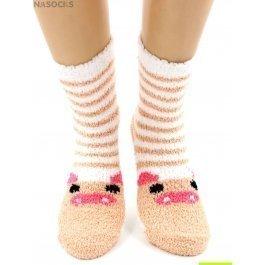 "Носки Hobby Line HOBBY 2369-7 носки махровые-травка ""Хрюша на белом"""