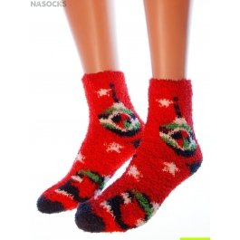 "Носки Hobby Line HOBBY 052-2 носки махровые-травка ""Елочные игрушки"""