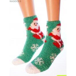 "Носки Hobby Line HOBBY 053-2 носки махровые-травка ""Дед Мороз с мешком подарков"""