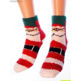 "Носки Hobby Line HOBBY 053-3 носки махровые-травка ""Дед Мороз с ремнем"""