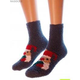 "Носки Hobby Line HOBBY 053-5 носки махровые-травка ""Дед Мороз с сердцем"""