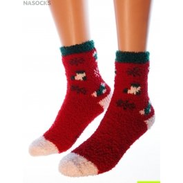 "Носки Hobby Line HOBBY 055-3 носки махровые-травка ""Сапожки со снежинками"""