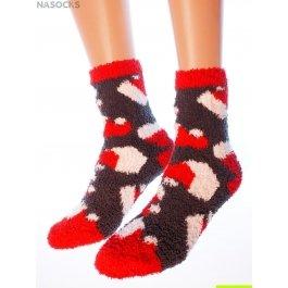 """Носки Hobby Line HOBBY 057-2 носки махровые-травка """"Новогодние колпачки"""""""