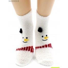 "Носки Hobby Line HOBBY 067 носки махровые-травка ""Снеговик на белом"""