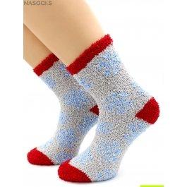 """Носки Hobby Line HOBBY 069 носки махровые-травка люрекс """"Голубые снежинки"""""""