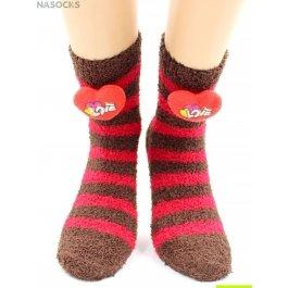 """Носки Hobby Line HOBBY 2347-8 носки махровые-травка, в полоску, """"Сердечко 3Д"""""""