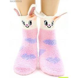 "Носки Hobby Line HOBBY 2359 носки махровые-травка ""Зайчик 3Д с сердцами"""