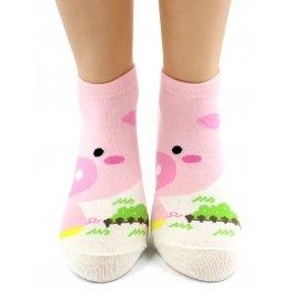 Носки Hobby Line HOBBY 432 носки хлопковые половинки поросенок