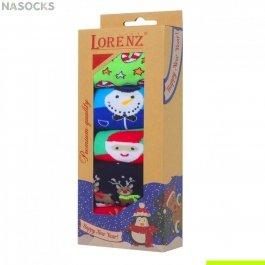 Подарочный новогодний набор женских  носков, 5 пар, Lorenz Р15