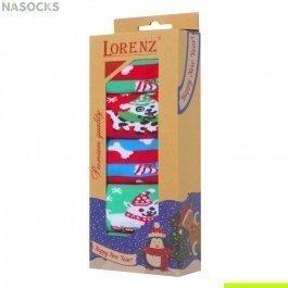 Подарочный новогодний набор женских носков, 5 пар, Lorenz Р17