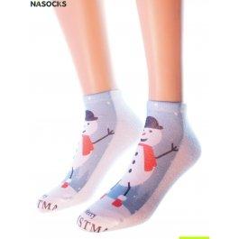"""Носки Hobby Line HOBBY 3Д03-1 носки женские """"Снеговик"""""""