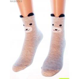 "Носки Hobby Line HOBBY 3Д55 носки женские ""Серый мишка 3Д"""