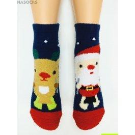 "Носки Hobby Line HOBBY 2201-46 носки махровые-пенка ""Санта Клаус и олень"""