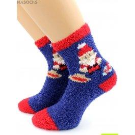 Носки Hobby Line HOBBY 3306-1 носки детские махровые травка Дед Мороз с мешком подарков
