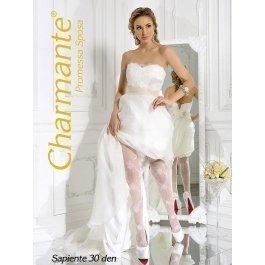 Распродажа колготки Charmante SP SAPIENTE 30 женские с рисунком свадебные