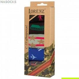 Подарочный набор мужских носков на 23 Февраля Р33