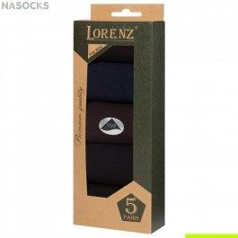 Подарочный набор мужских носков, 5 пар Lorenz  Р44