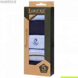 Подарочный набор мужских носков, 5 пар Lorenz Р39
