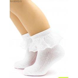 Носки Hobby Line HOBBY 841-1 детские х/б, гладкие, ситцевая рюша