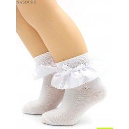 Носки Hobby Line HOBBY 843-1 детские х/б, гладкие, атласная лента с бантом