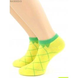 "Носки Hobby Line HOBBY 530-01 носки укороченные женские х/б, ""Ананас"""