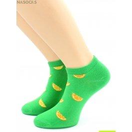 "Носки Hobby Line HOBBY 530-07 носки укороченные женские х/б, ""Дольки апельсина"""