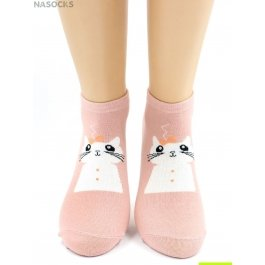 "Носки Hobby Line HOBBY 557 носки укороченные женские х/б, ""Кошечка"""