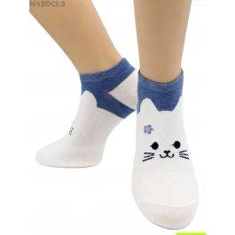 Носки Hobby Line HOBBY 581 носки укороченные женские х/б, милые кошечки