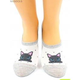 Носки Hobby Line HOBBY 17-02 носки невидимые женские х/б, кошечки, ассорти