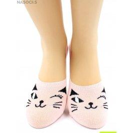 Носки Hobby Line HOBBY 17-30 носки невидимые женские х/б, кошечка подмигивает