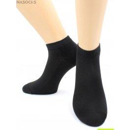 Носки Hobby Line HOBBY 522-1(534) носки укороченные женские х/б, однотонные, сеточка сверху, черный
