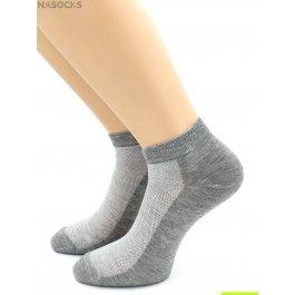 Носки Hobby Line HOBBY 522-2 (538) носки укороченные женские х/б, однотонные, сеточка сверху, серый