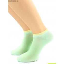 Носки Hobby Line HOBBY 561-06 носки укороченные женские х/б, нефритовый с зеленой резинкой