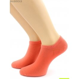 Носки Hobby Line HOBBY 562-16 носки укороченные женские х/б, коралловый