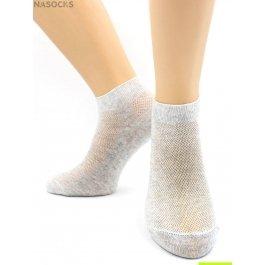 Носки Hobby Line HOBBY 564-2 носки укороченные женские х/б, однотонные, сеточка сверху