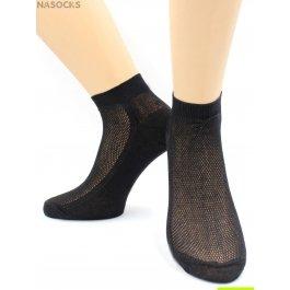 Носки Hobby Line HOBBY 564-4 носки укороченные женские х/б, однотонные, сеточка сверху