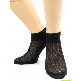 Носки Hobby Line HOBBY 014-1 носки мужские укороченные х/б однотонные, сверху сеточка