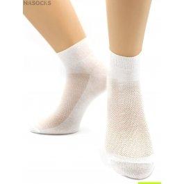 Носки Hobby Line HOBBY 014-3 носки мужские укороченные х/б однотонные, сверху сеточка