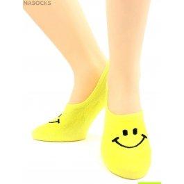 Носки Hobby Line HOBBY 17-14 носки невидимые женские х/б, смайлики, ассорти
