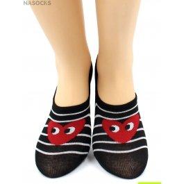 Носки Hobby Line HOBBY 17-23 носки невидимые женские х/б, сердечки