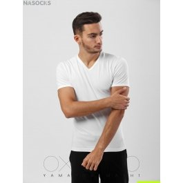 Футболка Oxouno OXO 0053 KULIR Slim fit V-вырез