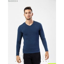 Футболка лонгслив Oxouno OXO 0387 KULIR 02 Slim fit V-вырез