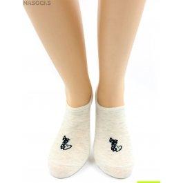 Носки Hobby Line HOBBY 17-22 невидимые женские х/б, стильная кошечка