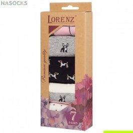 Подарочный набор женских носков, 7 пар, Lorenz Р38