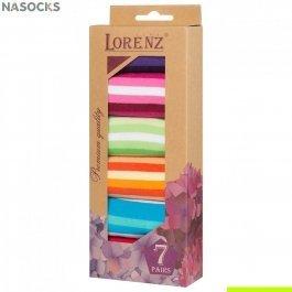 Подарочный набор женских носков, 7 пар, Lorenz Р34