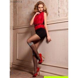 Колготки женские с имитацией гольфов в горошек  Mona Fashion Elena 04 20 den