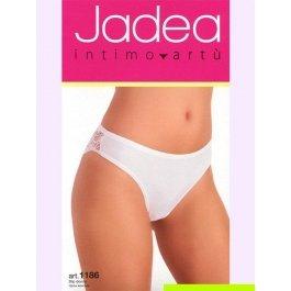Трусы-слип женские с ажурной резинкой и кружевными вставками Jadea 1186 slip